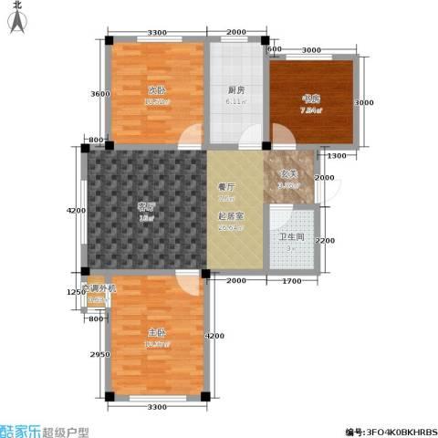 三鑫・顺德园3室0厅1卫1厨95.00㎡户型图