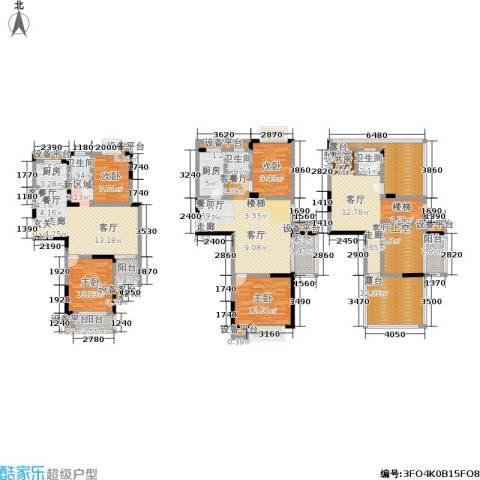 滨河御景4室2厅3卫2厨262.00㎡户型图