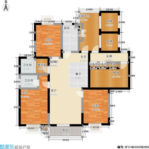 太平宝邸3室1厅2卫1厨182.00㎡户型图