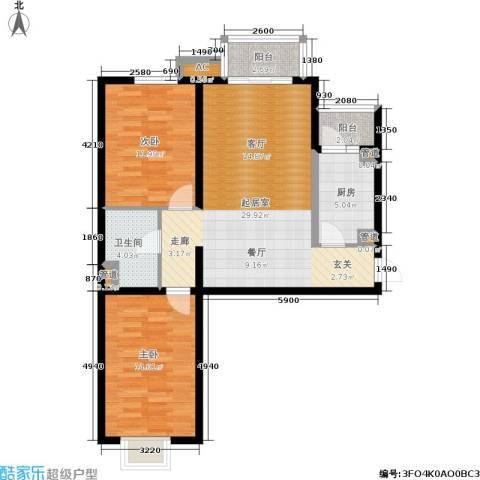 国宾豪庭・快乐空间2室0厅1卫1厨70.53㎡户型图
