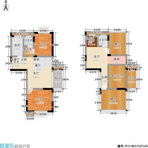 滨河御景2室1厅2卫1厨156.00㎡户型图