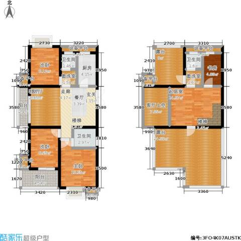 滨河御景4室1厅3卫1厨194.00㎡户型图