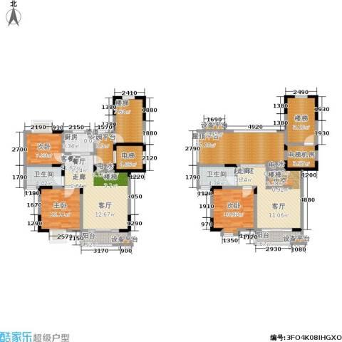 太平宝邸3室1厅2卫1厨152.00㎡户型图