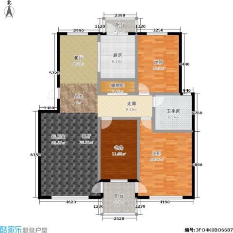 三鑫・顺德园3室0厅1卫1厨130.00㎡户型图