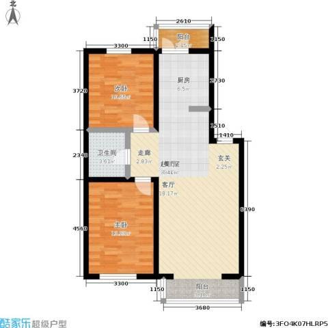 馨丽康城2室0厅1卫0厨89.00㎡户型图