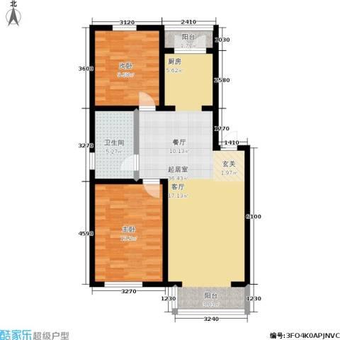 馨丽康城2室0厅1卫0厨85.00㎡户型图