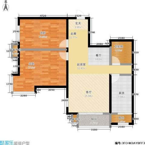丽阳馨苑2室0厅1卫1厨90.00㎡户型图