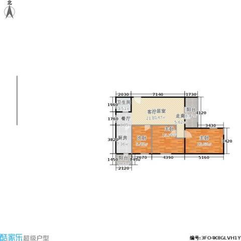 西马小区3室0厅1卫1厨97.00㎡户型图
