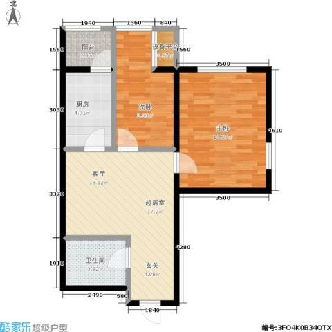 丽阳馨苑2室0厅1卫1厨60.00㎡户型图