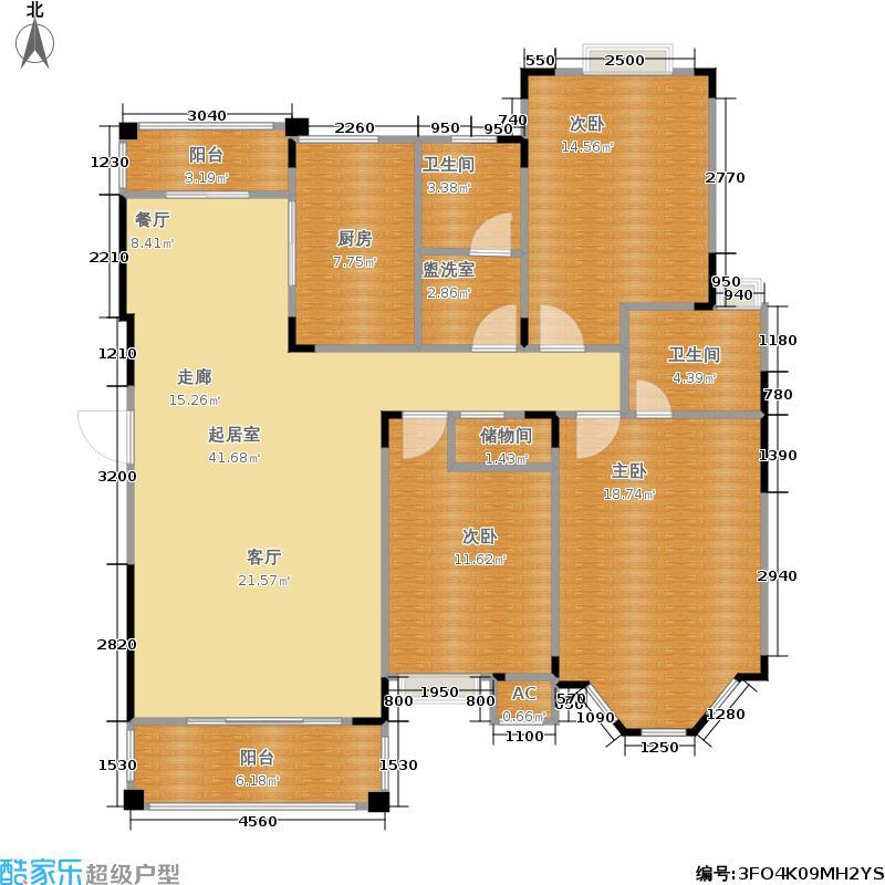 中旅蓝岸花园125.00㎡房型户型