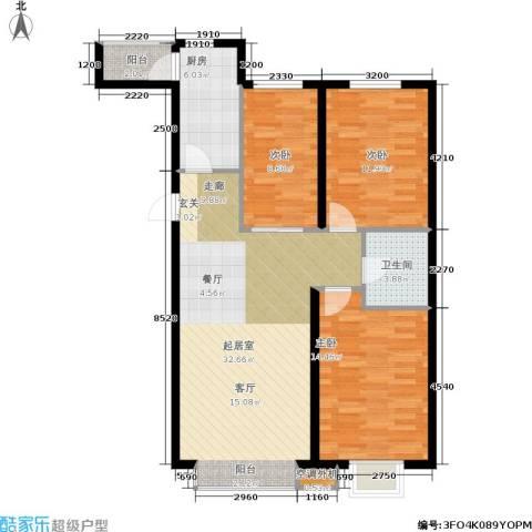 第一城B组团3室0厅1卫1厨100.00㎡户型图