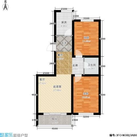 江山别院2室0厅1卫1厨93.00㎡户型图