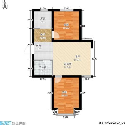 江山别院2室0厅1卫1厨73.00㎡户型图