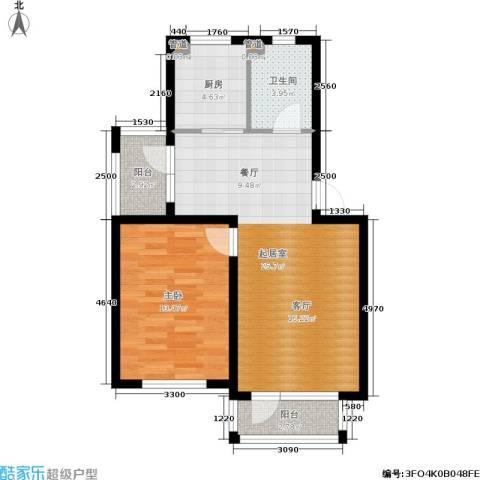 绿地老街坊三期 绿地国际花都1室0厅1卫1厨62.00㎡户型图