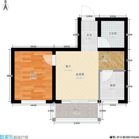 江山别院1室0厅1卫1厨54.00㎡户型图