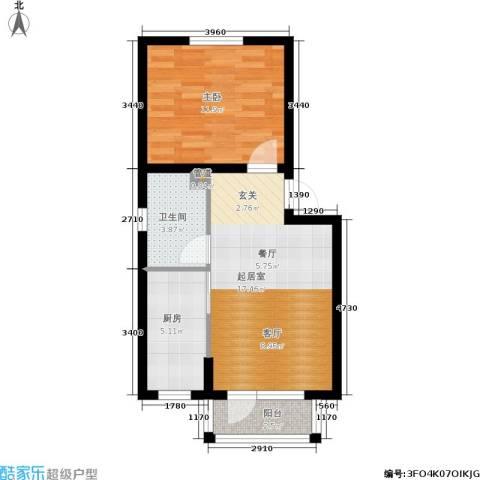 绿地老街坊三期 绿地国际花都1室0厅1卫1厨56.00㎡户型图