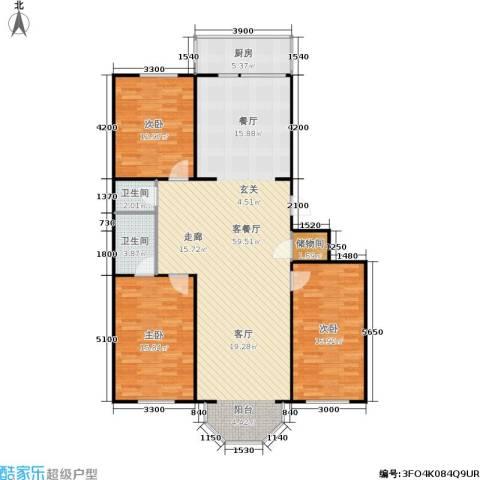保工怡园3室1厅2卫1厨141.00㎡户型图
