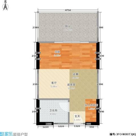 江南名居(二期)1卫0厨42.00㎡户型图