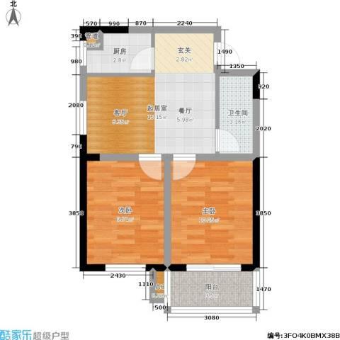 绿地老街坊三期 绿地国际花都2室0厅1卫1厨71.00㎡户型图