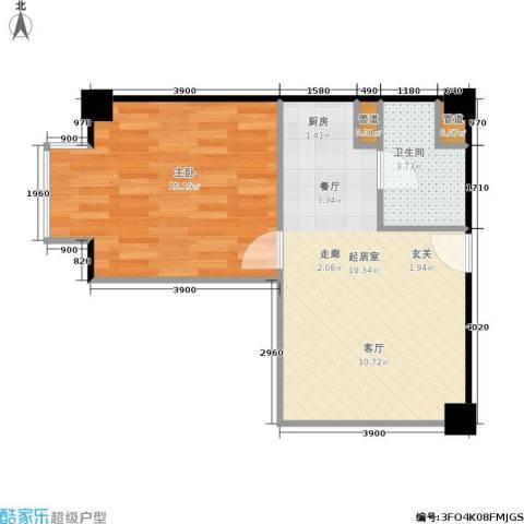 长江国际公寓1室0厅1卫0厨78.00㎡户型图