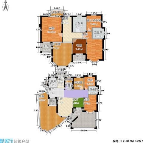 星海绿苑5室1厅3卫1厨246.00㎡户型图