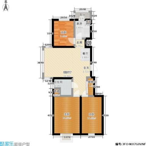 福隆雅居3室1厅1卫1厨99.00㎡户型图