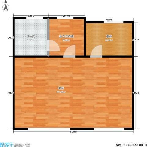 香格蔚蓝一、二期1室0厅1卫0厨74.00㎡户型图