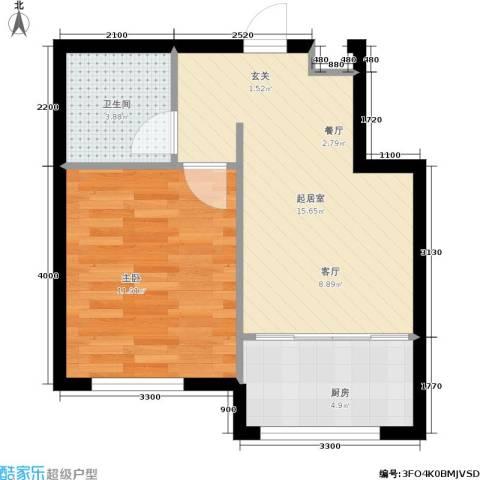 紫庭园1室0厅1卫1厨36.34㎡户型图