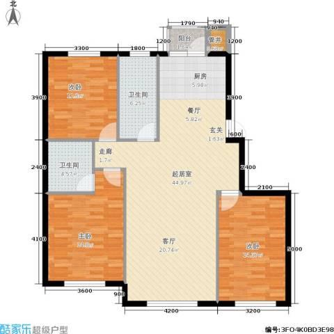 紫庭园3室0厅2卫0厨112.00㎡户型图