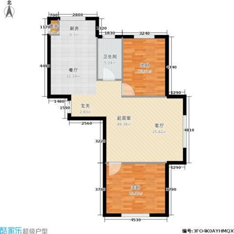 紫庭园2室0厅1卫0厨91.00㎡户型图