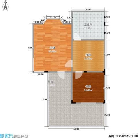香格蔚蓝一、二期2室0厅1卫0厨105.00㎡户型图