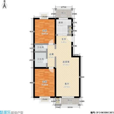 方正星光2室0厅2卫1厨100.00㎡户型图