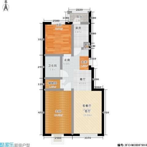 福隆雅居2室1厅1卫1厨84.00㎡户型图