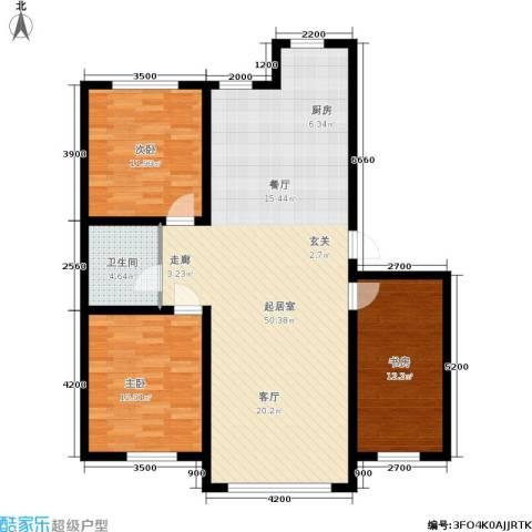 紫庭园3室0厅1卫0厨112.00㎡户型图