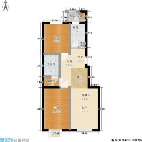 福隆雅居2室1厅1卫1厨83.00㎡户型图