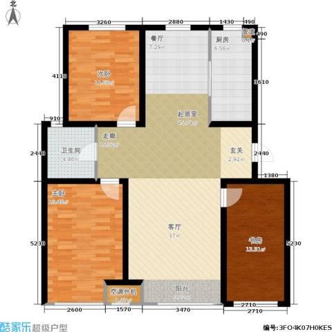 千缘・爱语城3室0厅1卫1厨120.00㎡户型图