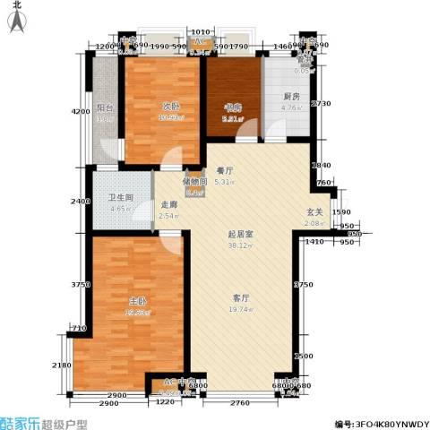 德馨苑3室0厅1卫1厨102.93㎡户型图