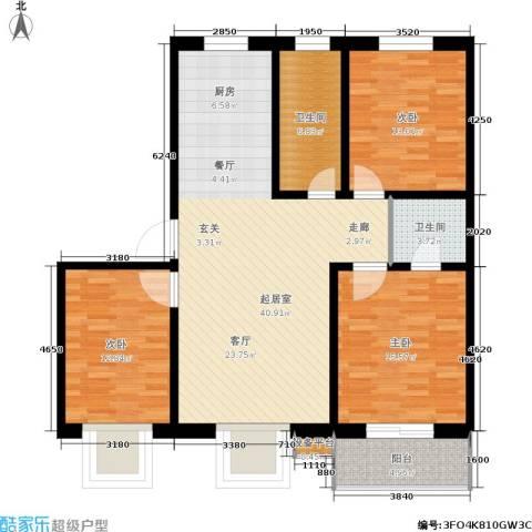 燕春星河国际3室0厅2卫0厨112.00㎡户型图