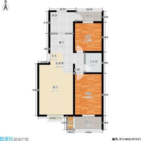石桥润泽园2室0厅1卫1厨97.00㎡户型图