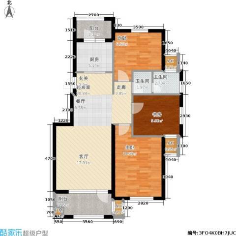 阳光帕提欧3室0厅2卫1厨121.00㎡户型图