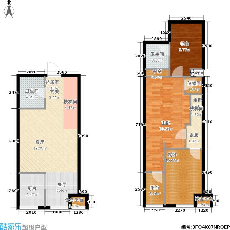 朱雀七星国际104.21㎡公寓A6-1#户型