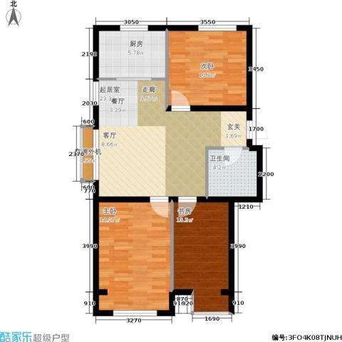 千缘・爱语城3室0厅1卫1厨95.00㎡户型图