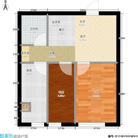 千缘・爱语城2室0厅1卫1厨49.00㎡户型图