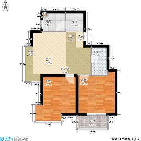 新干线花园2室0厅1卫1厨78.00㎡户型图