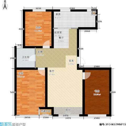 千缘・爱语城3室0厅1卫1厨113.00㎡户型图