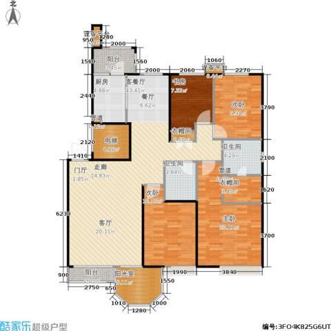 中远颐和丽园二期4室1厅2卫1厨150.00㎡户型图
