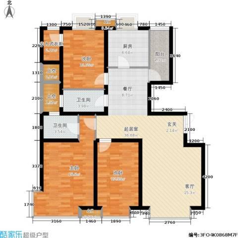 德馨苑3室0厅2卫1厨119.34㎡户型图