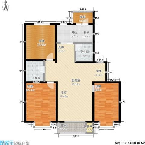 辰宇枫景瑞阁3室1厅2卫0厨117.68㎡户型图