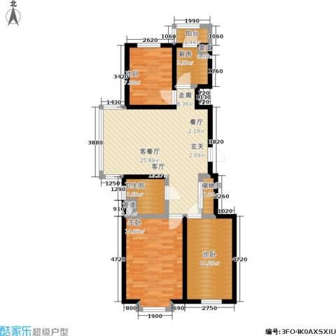 福隆雅居3室1厅1卫1厨102.00㎡户型图