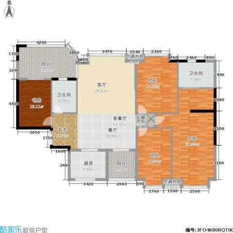南海颐景园4室1厅2卫1厨187.00㎡户型图